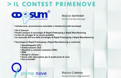 Contest: Le tecnologie di prototipazione rapida (RP) e produzione rapida (RM) in fase di progettazione